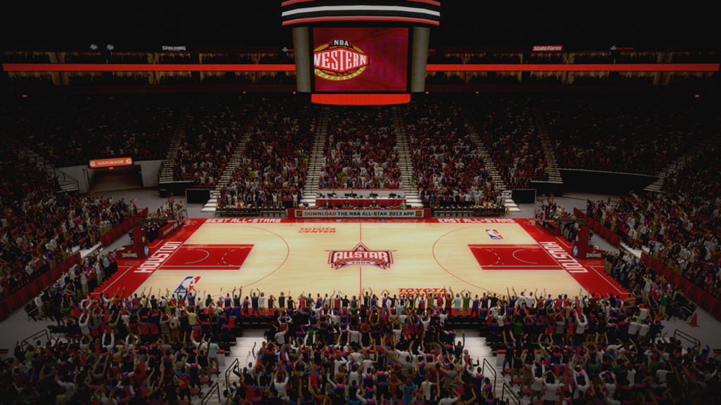 2006 NBA All-Star Court in Houston