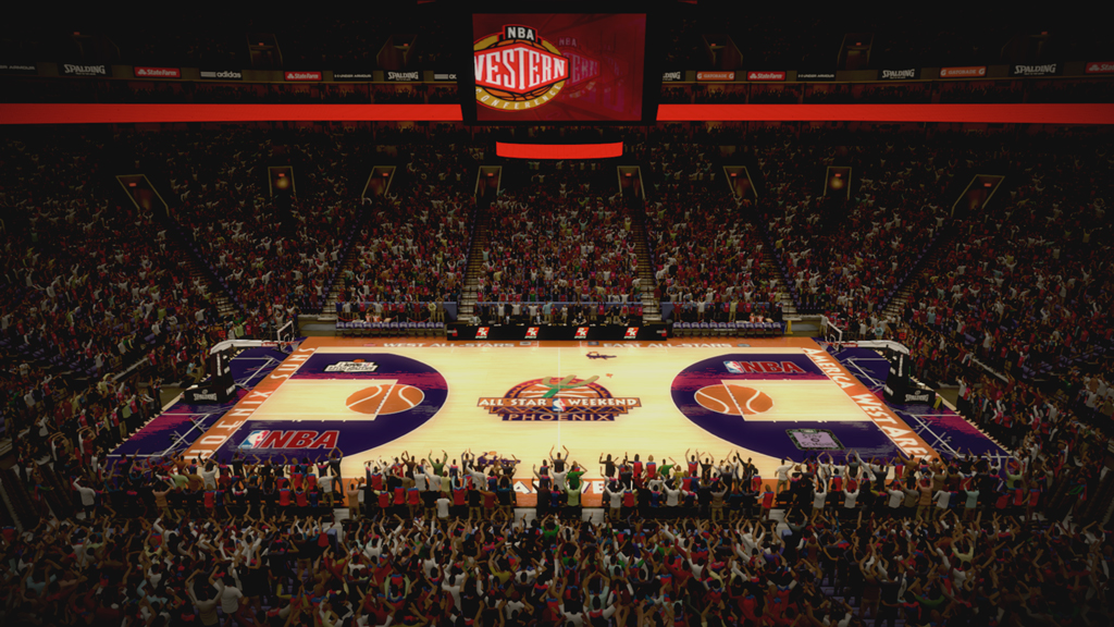 1995 NBA All-Star Court in Phoenix