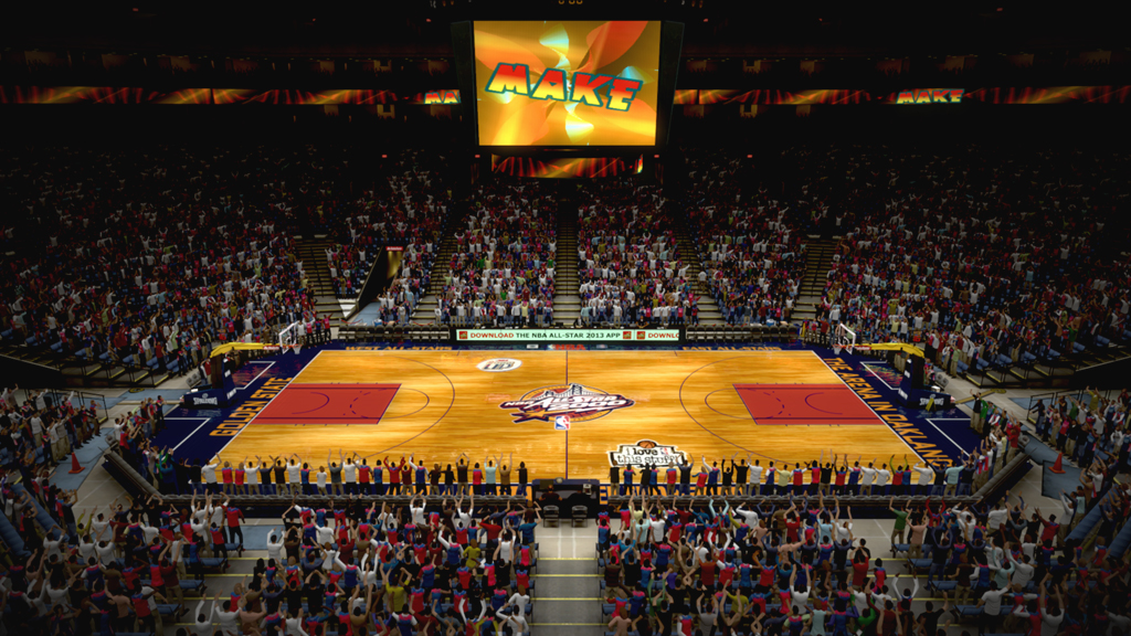 2000 NBA All-Star Court in Oakland