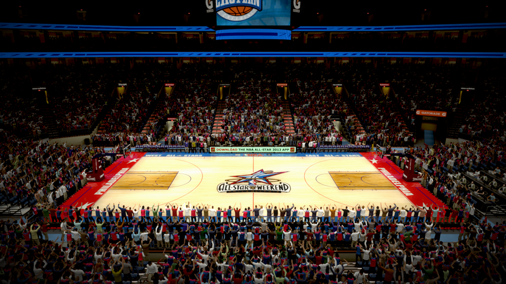 2002 NBA All-Star Court in Philadelphia