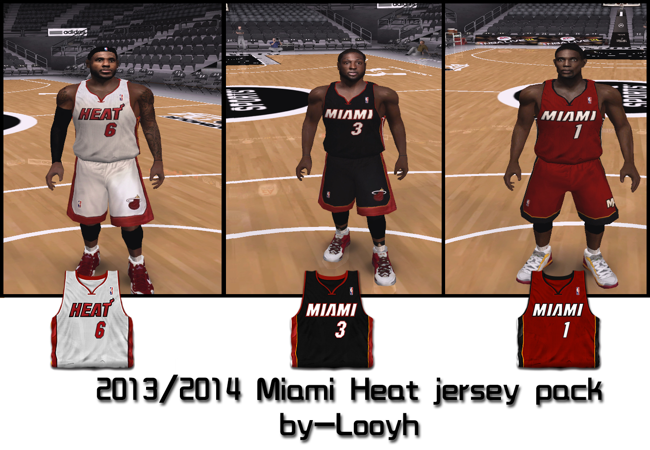 Miami Heat 2013/2014 Jersey Pack