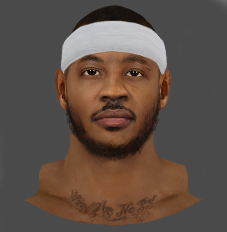 Carmelo Anthony HD Face (3D Beard)