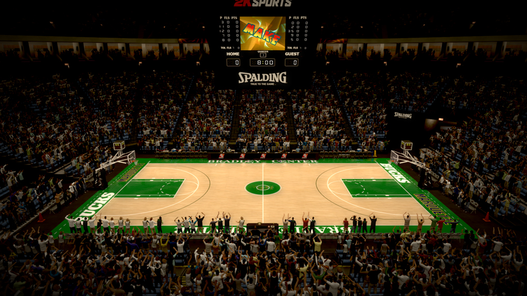 1989-1993 Bradley Center in Milwaukee