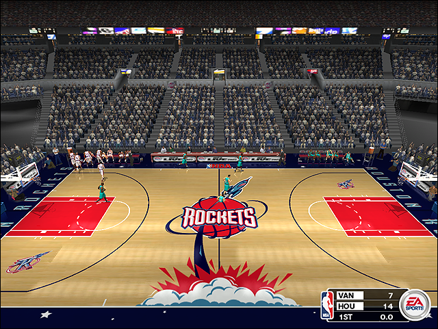 Vintage Houston Rockets Court (1996-1998)