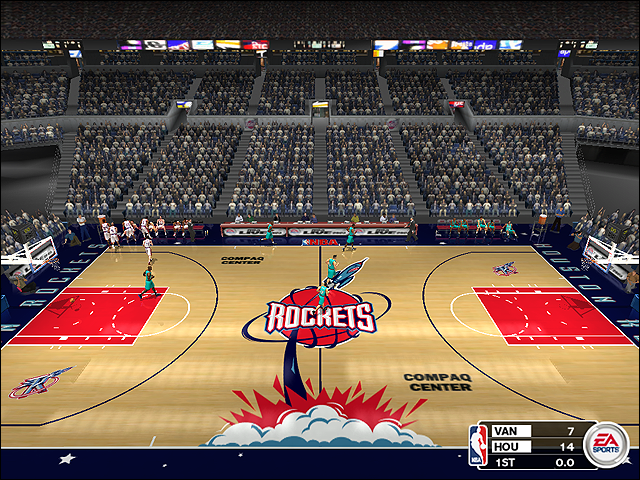 Vintage Houston Rockets Court (1998-2000)