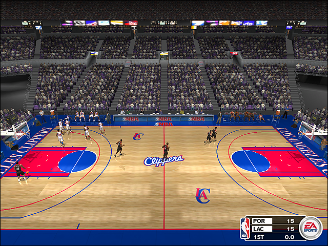 Vintage Los Angeles Clippers Court (1997-1999)