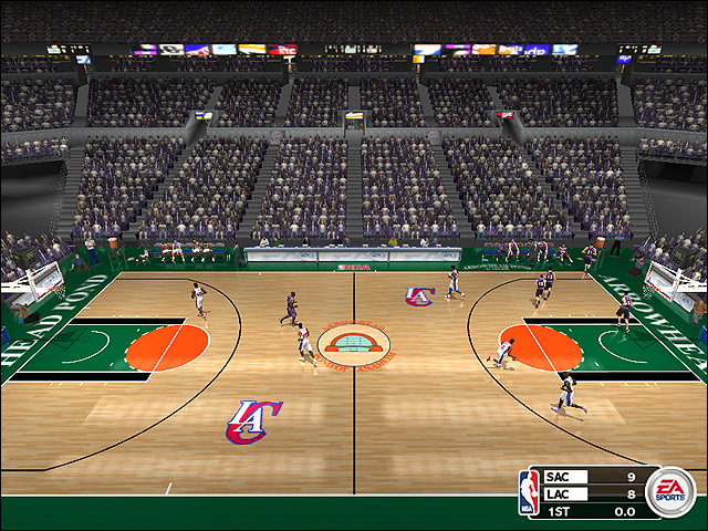 Vintage Los Angeles Clippers Court (1997-1999) in Anaheim