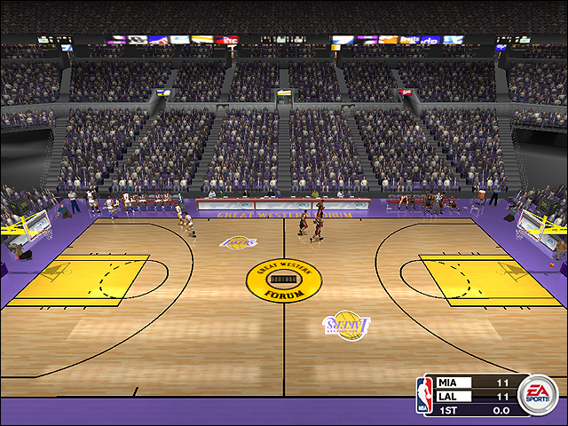 Vintage Los Angeles Lakers Court (1995-1999)