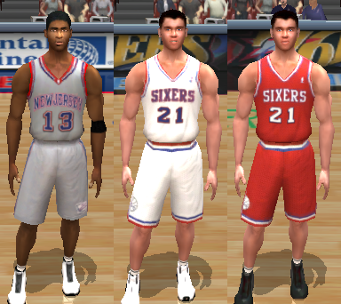 Retro Philadelphia 76ers & New Jersey Nets Jerseys
