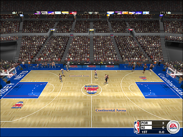 Vintage New Jersey Nets Court (1995-1996)