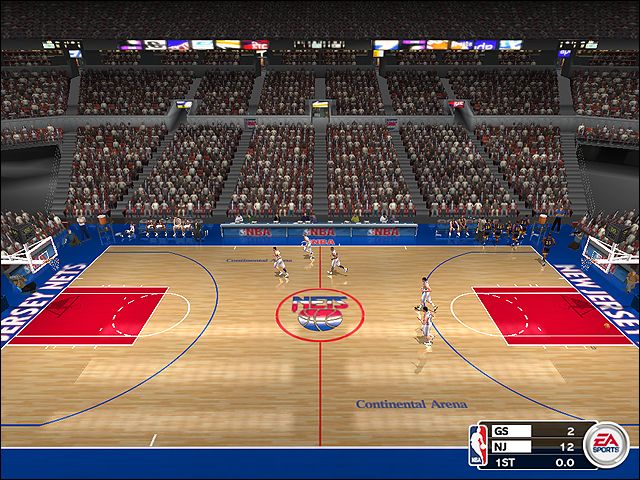 Vintage New Jersey Nets Court (1996-1997)