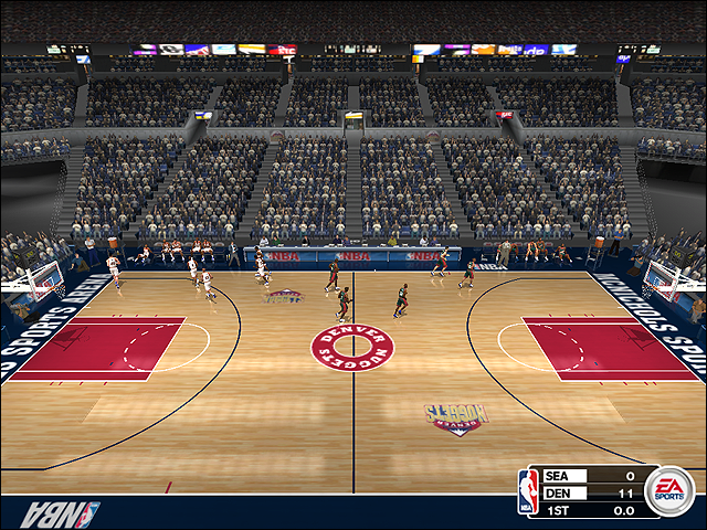 Vintage Denver Nuggets Court (1993-1998)