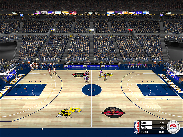 Vintage Atlanta Hawks Court (1997-1999) Georgia Tech