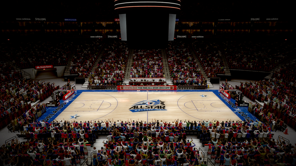2012 NBA All-Star Court in Orlando