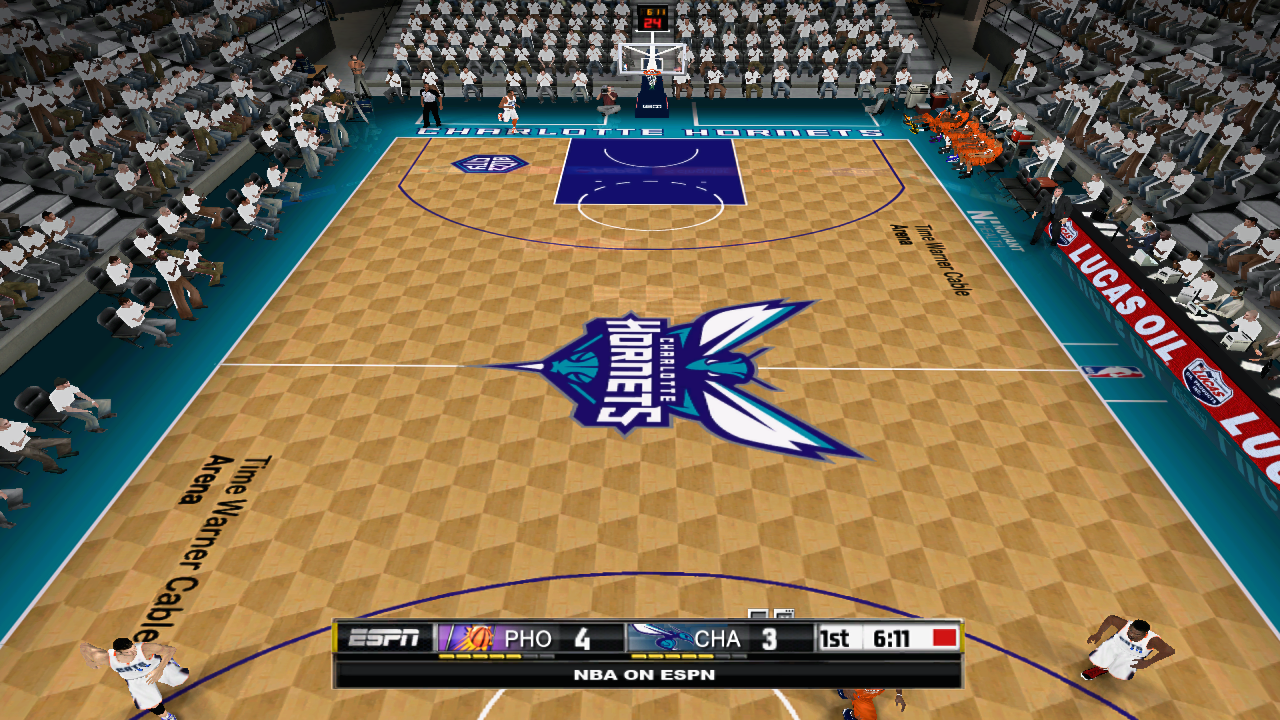 Charlotte Hornets 2014/2015 Court Patch