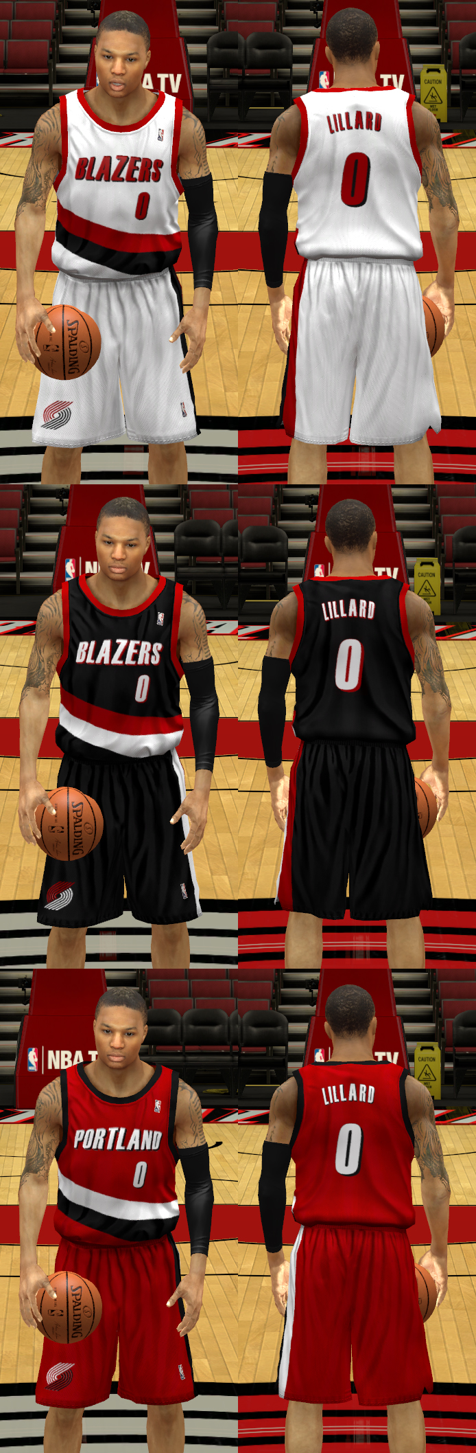 1990s Portland Trail Blazers Uniforms