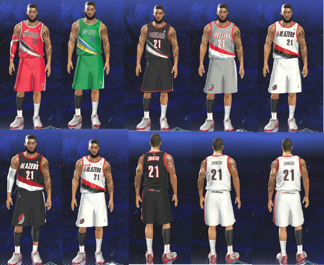 Portland Trail Blazers Re-Created Fictional Jerseys