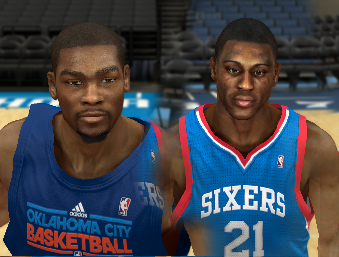 Kevin Durant + Thaddeus Young HD Faces