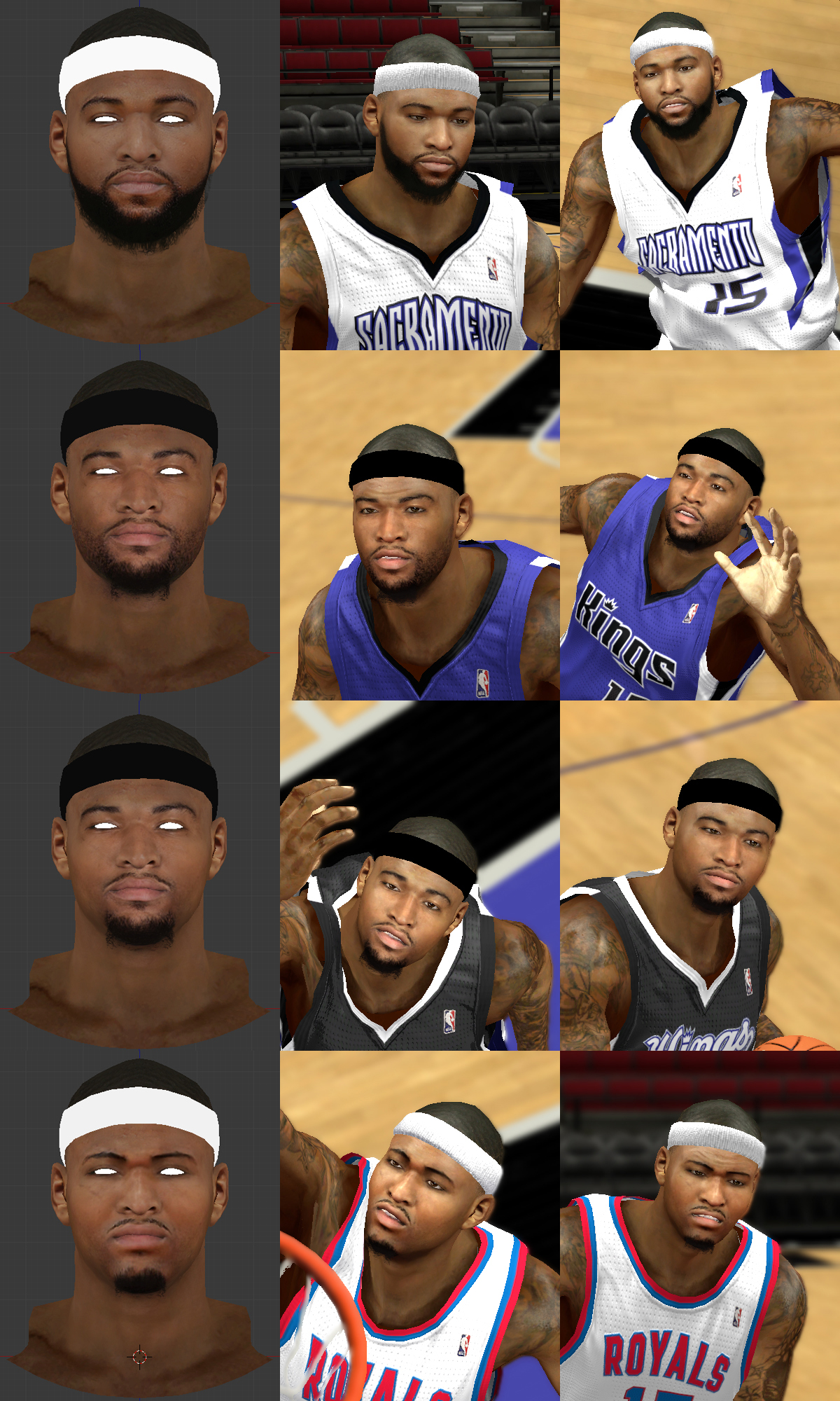 DeMarcus Cousins Face
