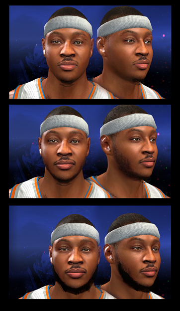 Carmelo Anthony Face (Facial Progression Compatible)