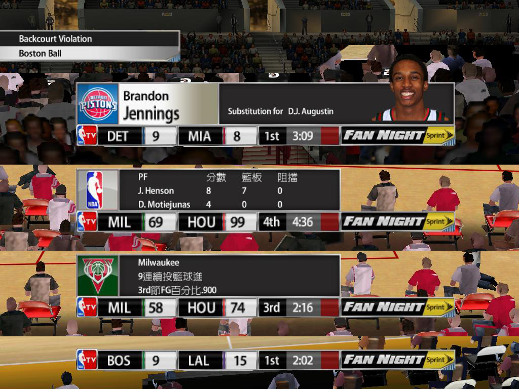 NBA TV 2013/2014 Scoreboard