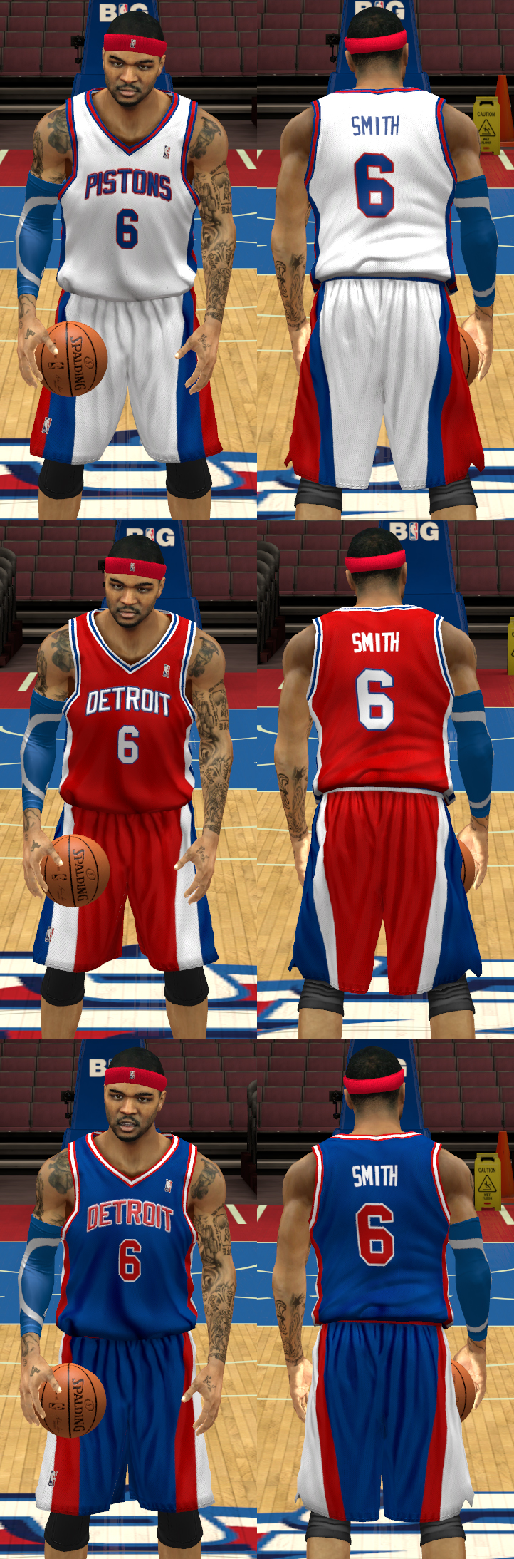 1977/78 Detroit Pistons Uniforms