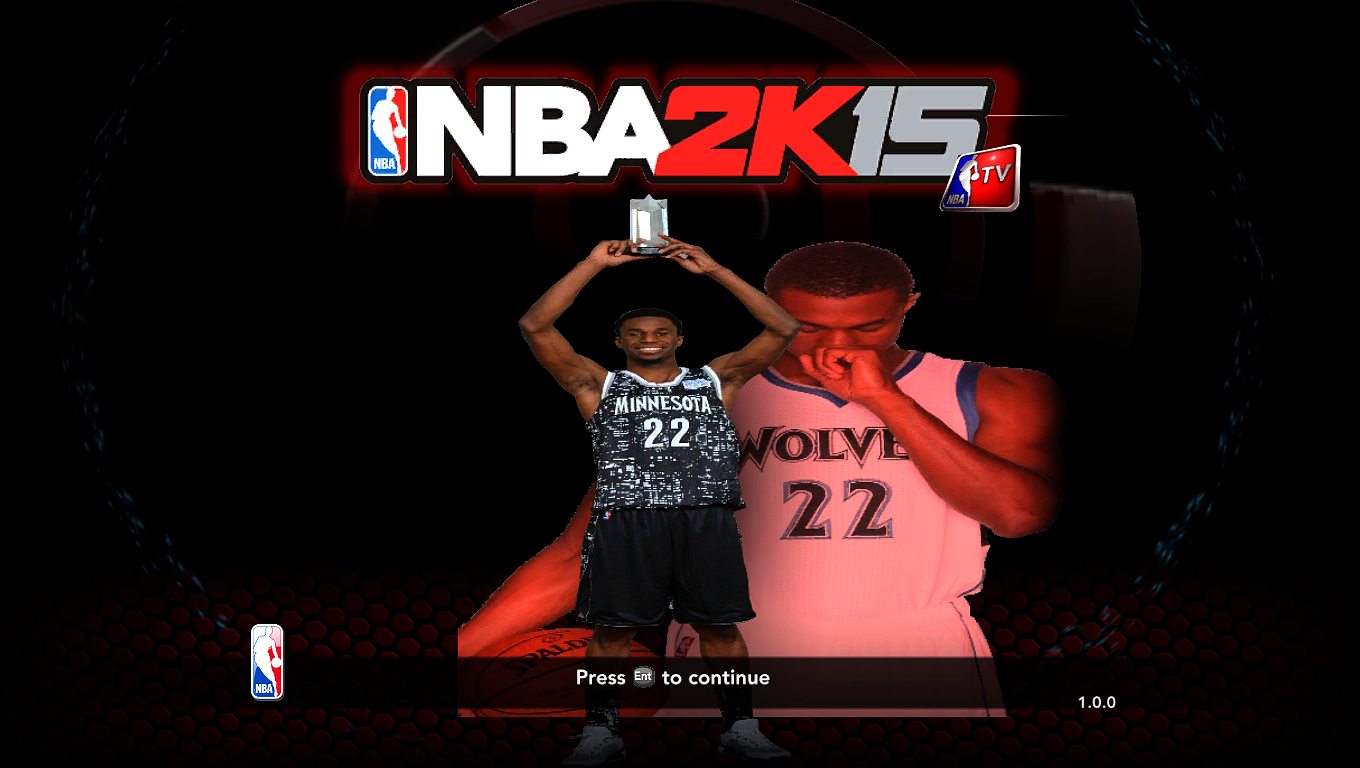 2KShiftLeader Andrew Wiggins Title Screen