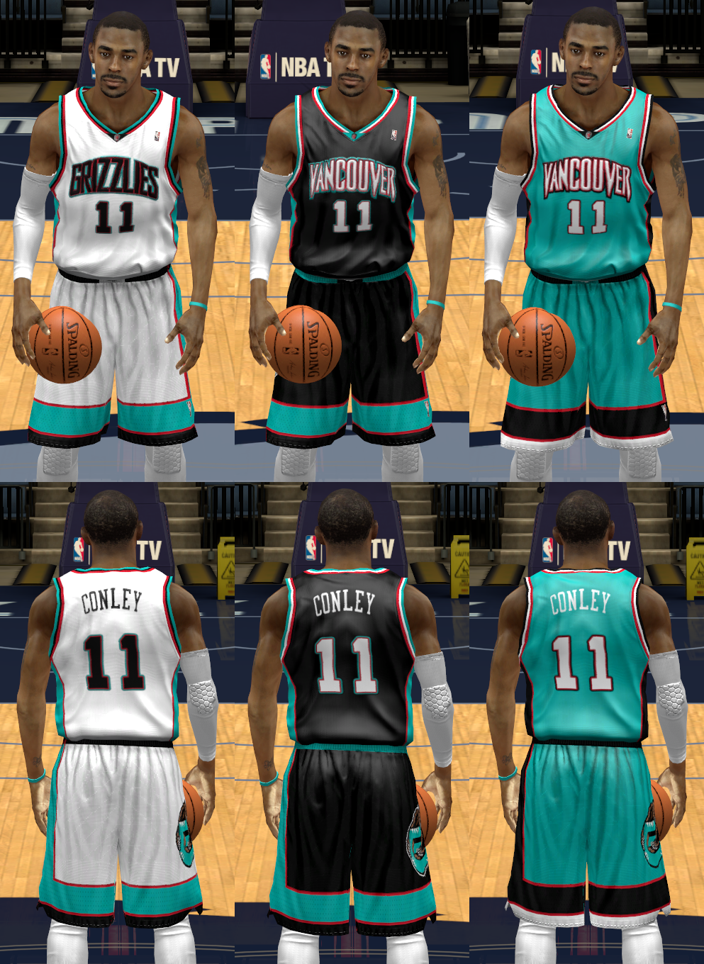 2000/01 Vancouver Grizzlies Uniforms