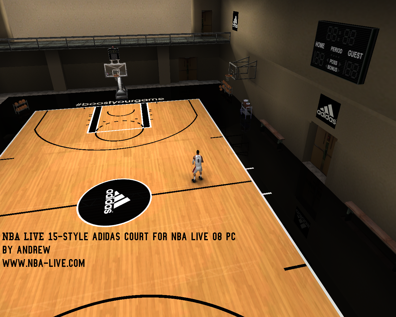 NBA Live 15-Style Adidas Practice Court