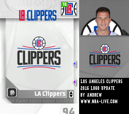 Los Angeles Clippers 2015/2016 Logo Patch 07