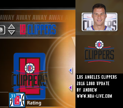 Los Angeles Clippers 2015/2016 Logo Patch 2005