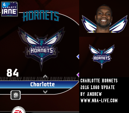 Charlotte Hornets 2015/2016 Logo Patch 08