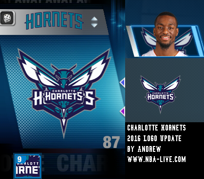 Charlotte Hornets 2015/2016 Logo Patch 06