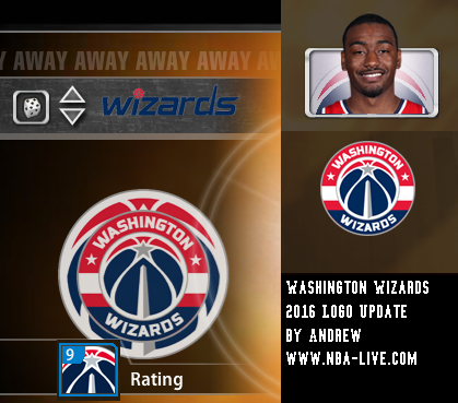 Washington Wizards 2015/2016 Logo Patch 2005