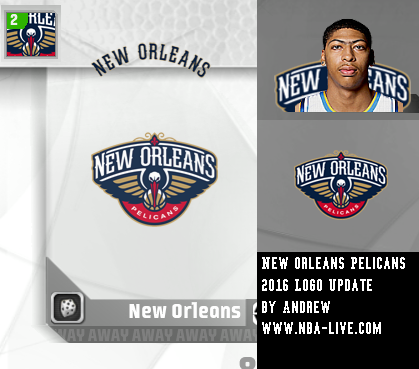 New Orleans Pelicans 2015/2016 Logo Patch 07
