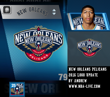 New Orleans Pelicans 2015/2016 Logo Patch 06