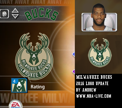 Milwaukee Bucks 2015/2016 Logo Patch 2005