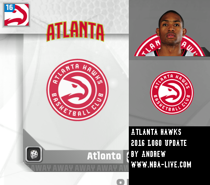 Atlanta Hawks 2015/2016 Logo Patch 07