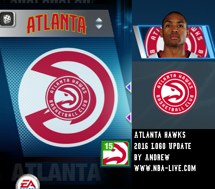 Atlanta Hawks 2015/2016 Logo Patch 06