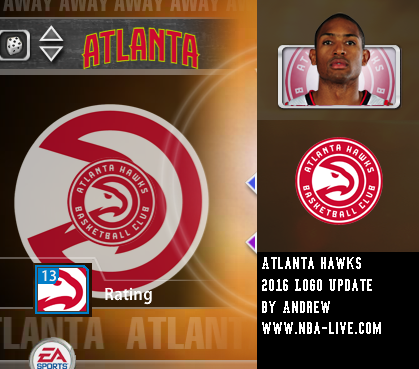Atlanta Hawks 2015/2016 Logo Patch 2005