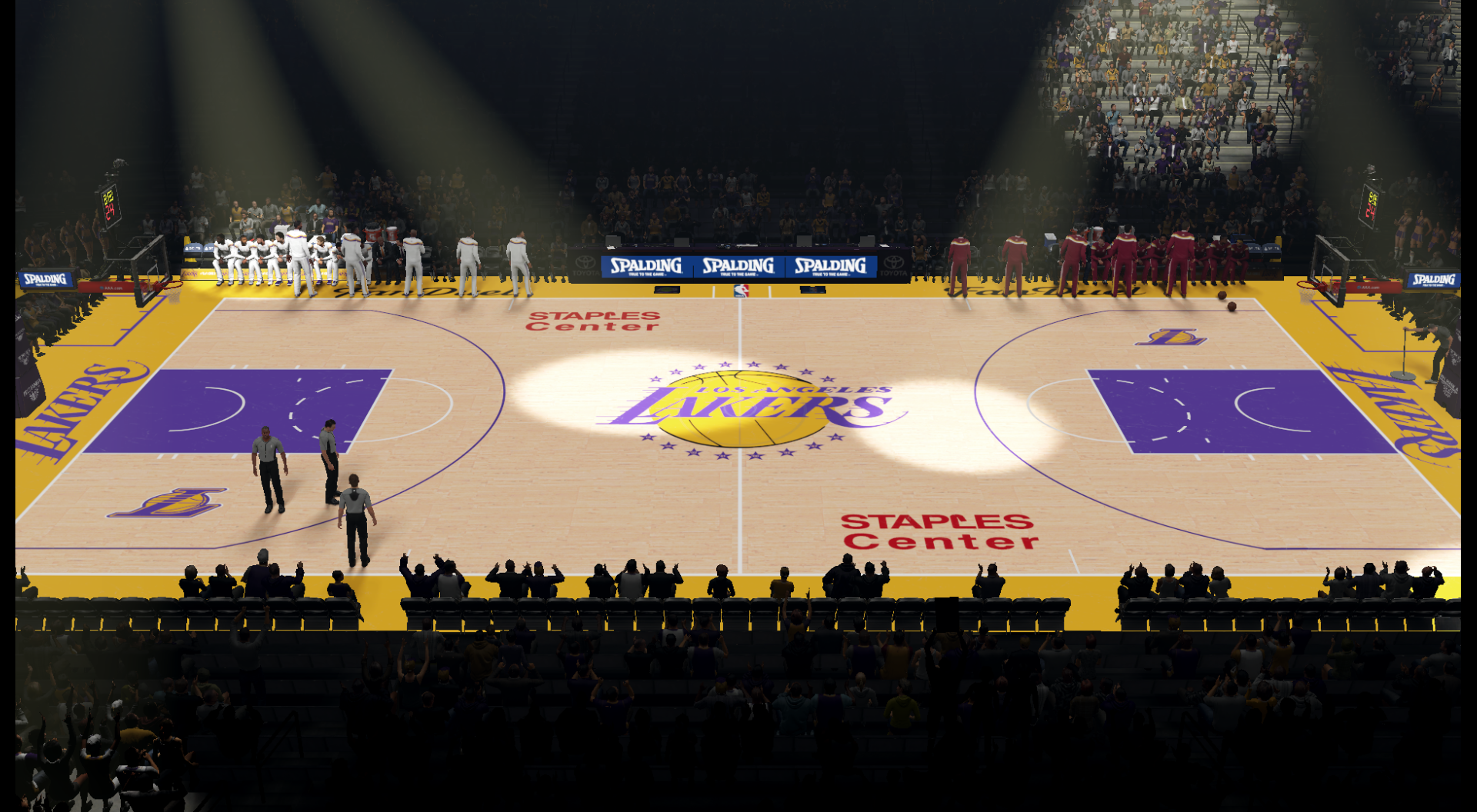 "Los Angeles Lakers Staples Center HD Court V2 + 'Mamba Day""  Kobe Last Game Court"