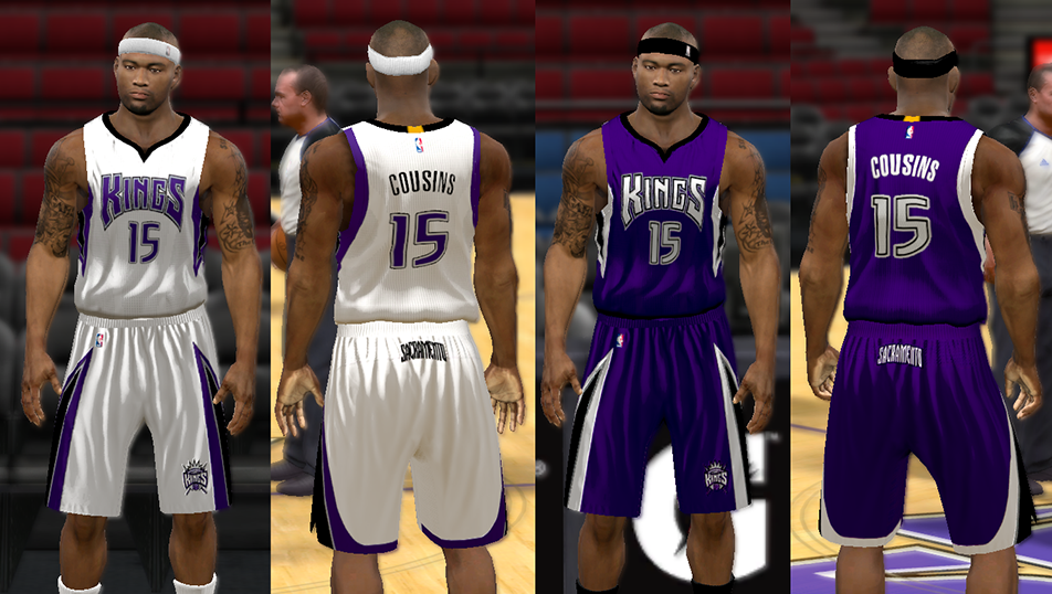2014-16 Sacramento Kings Uniforms