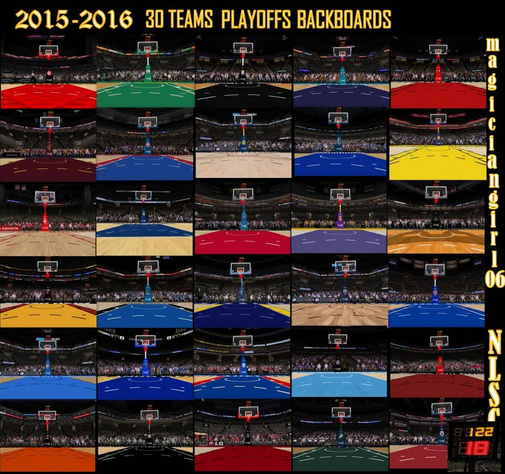 2015/2016 30 Teams Playoffs Backboards