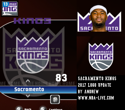 Sacramento Kings 2016/2017 Logo Patch 08