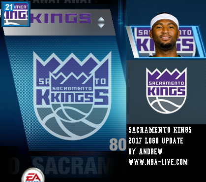 Sacramento Kings 2016/2017 Logo Patch 06
