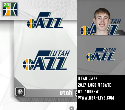 Utah Jazz 2016/2017 Logo Patch 07