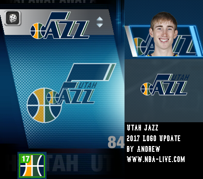 Utah Jazz 2016/2017 Logo Patch 06