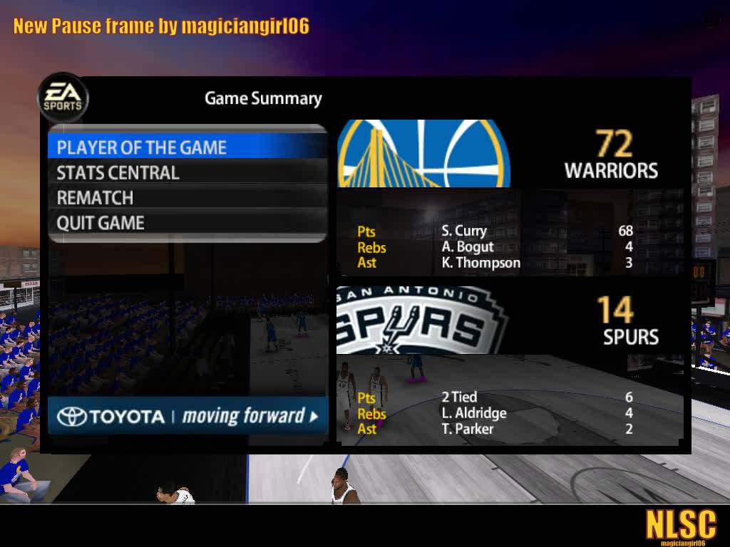 New NBA Live 06 Pause Screen