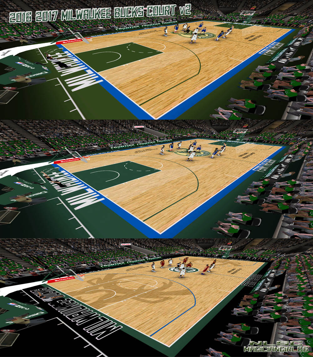 2016/2017 Milwaukee Bucks Court
