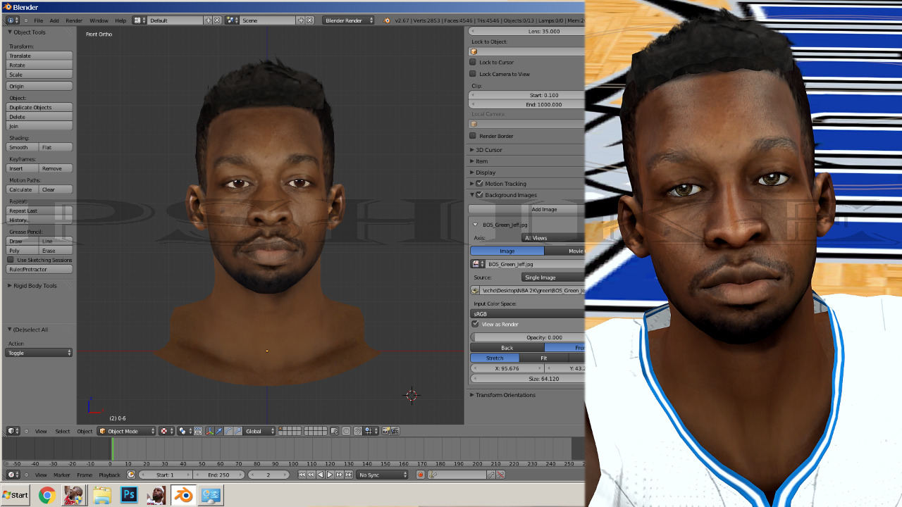 Jeff Green Face
